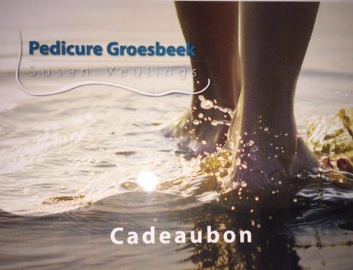 Nieuw bij Pedicure Groesbeek: Cadeaubon